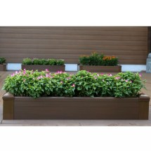 Composite Lumber Rectangular Patio Raised Garden Planter