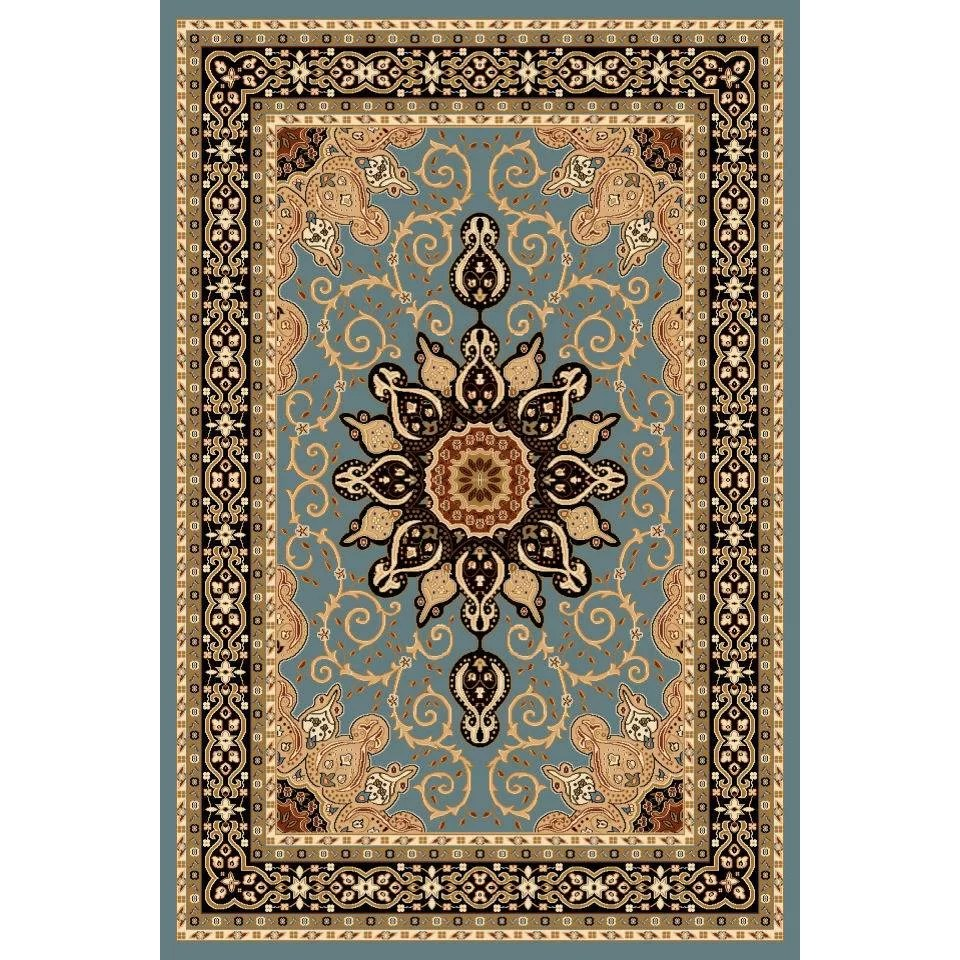 Tobis Oriental Isfahan Blue Area Rug  Wayfair