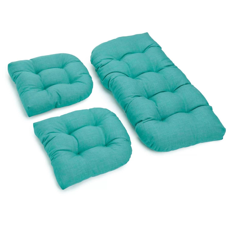 one piece patio chair cushions irish pub chairs 3 outdoor bench and dining cushion set wayfair
