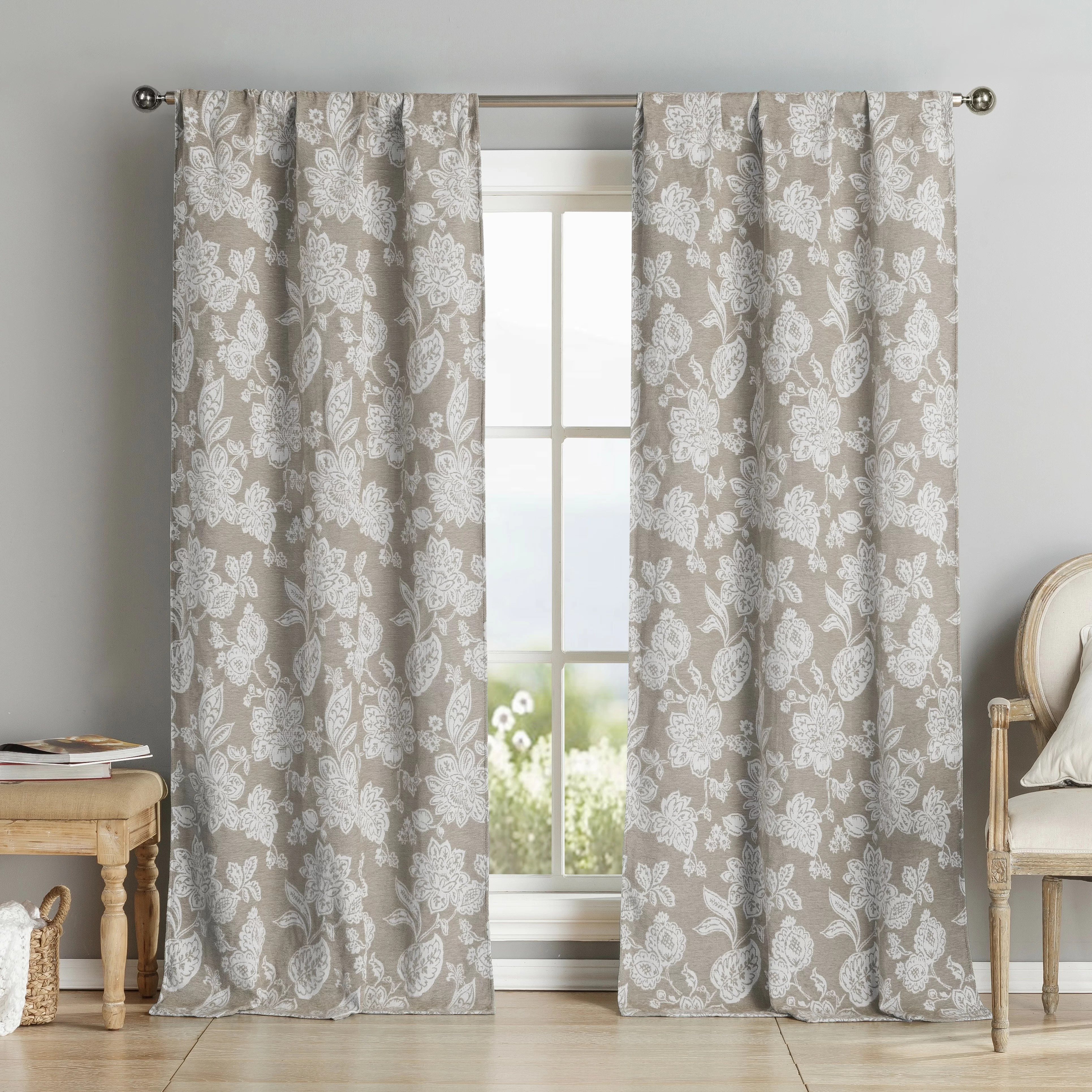 Oliver Chenille Curtain Panels  Wayfair