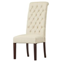 Charlton Home Estbury Tall Tufted Upholstered Dining Chair ...