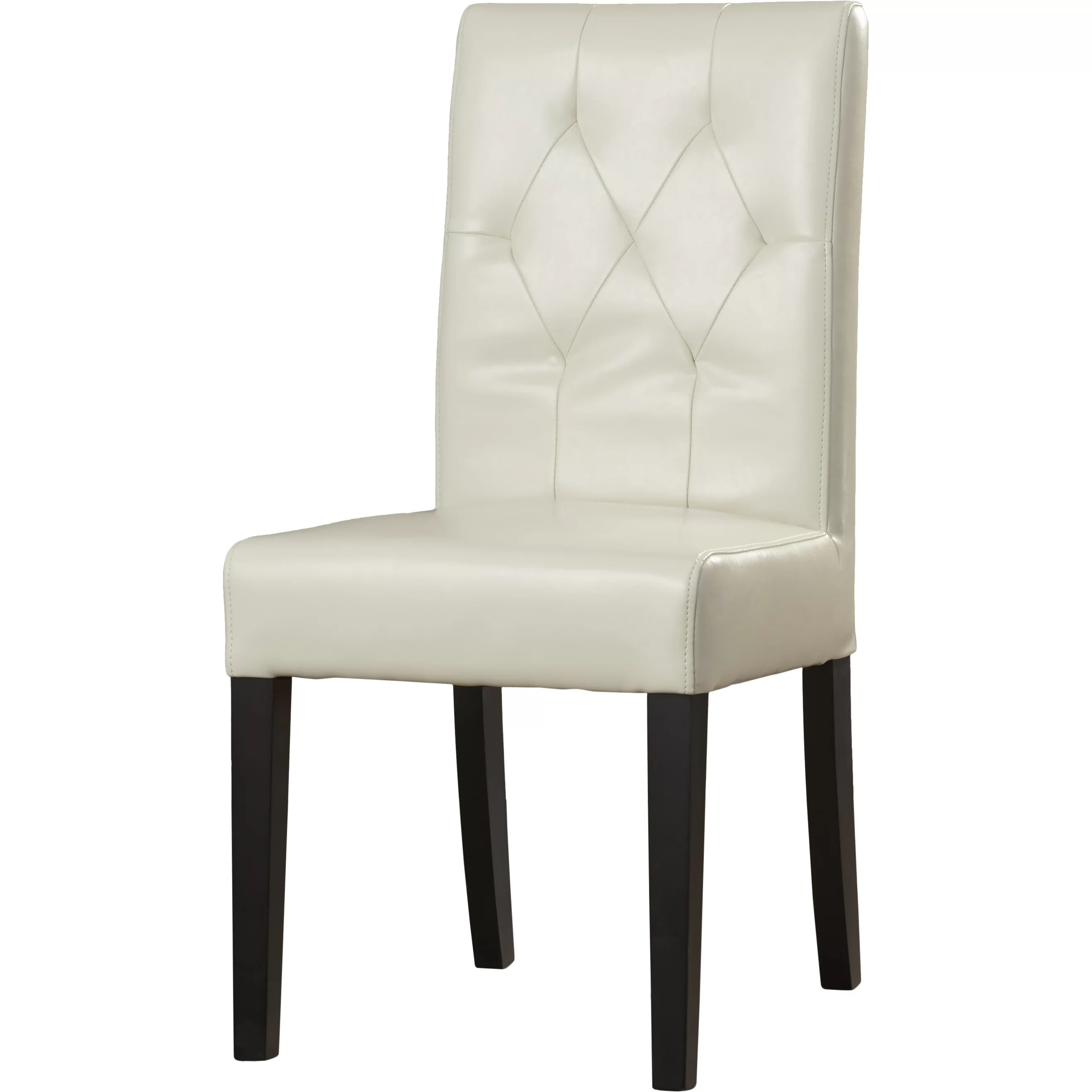 Cherry Chairs Brayden Studio Cherry Bonded Leather Upholstered Dining
