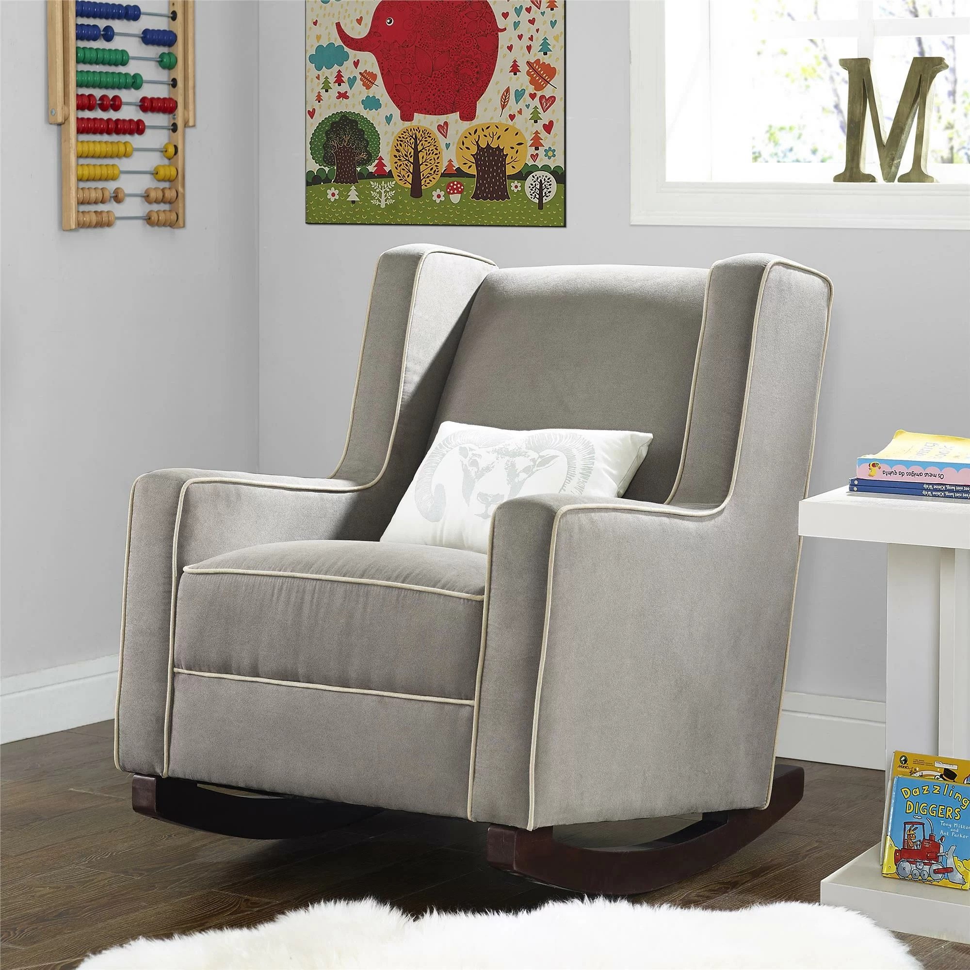 nursery rocking chair walmart childrens plastic chairs baby relax abby rocker and reviews wayfair