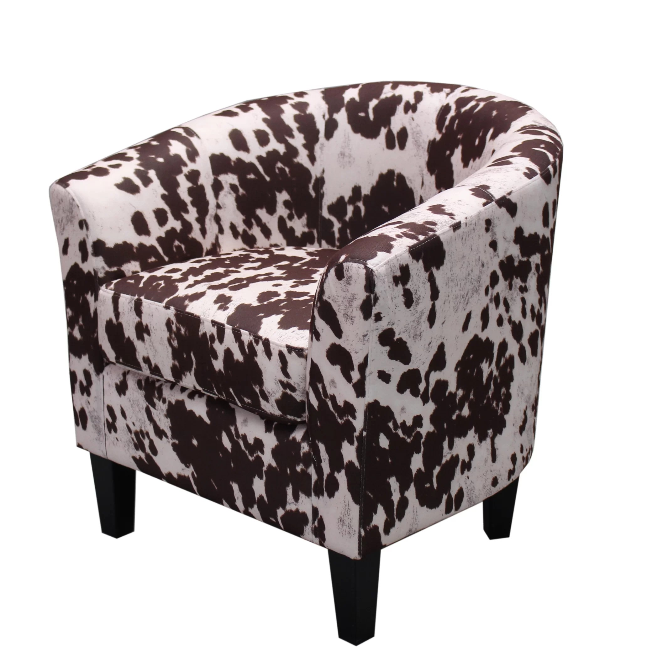cowhide print accent chair small lift chairs recliners container cow spot armchair and reviews wayfair ca