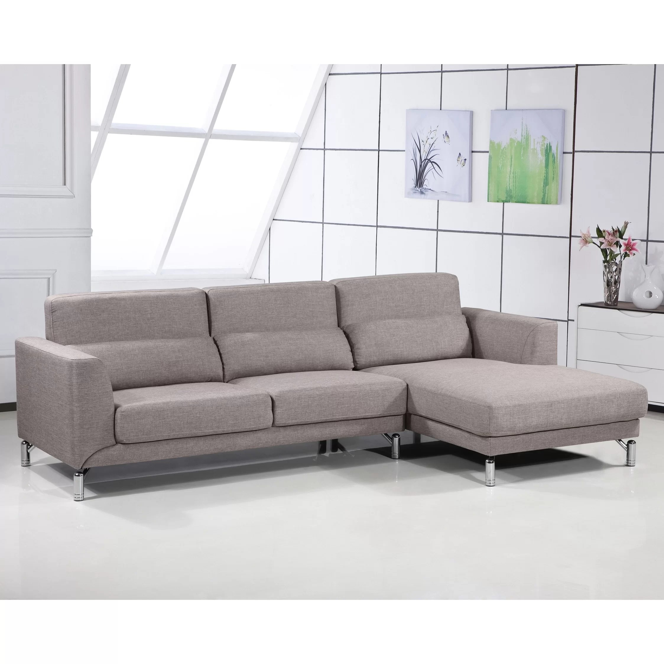 aria fabric modern sectional sofa set best cleaners in mumbai container and reviews wayfair