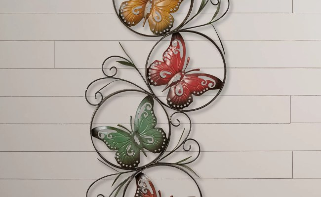 August Grove Ila Metal Butterfly Wall Décor Reviews