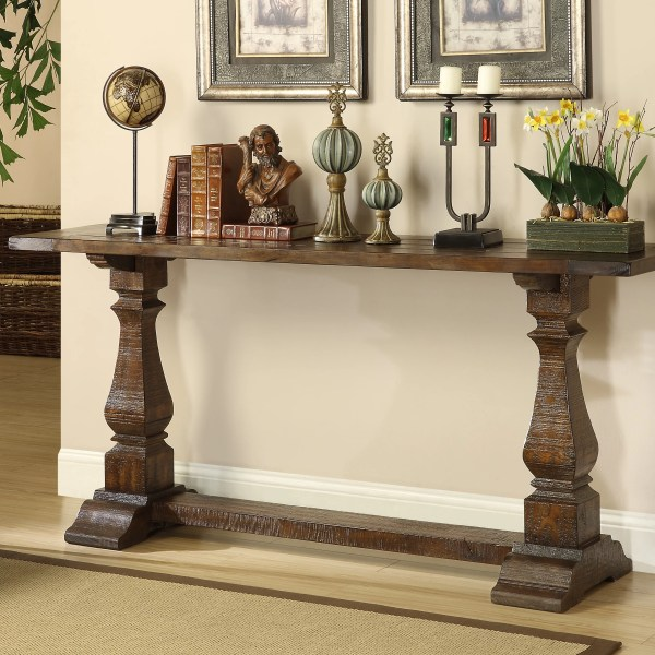 Allium Louise Console Table In Brown &