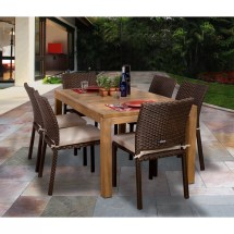 Beachcrest Home Elsmere 7 Piece Outdoor Dining Set With