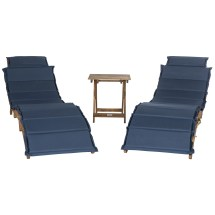 Beachcrest Home Wallace 3 Piece Lounge Set With Cushion