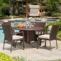 Beachcrest Home Brandon 5 Piece Dining Set With Cushions