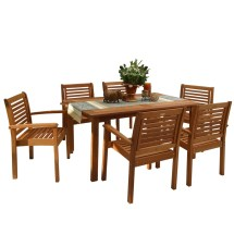 Beachcrest Home Elsmere 7 Piece Dining Set &