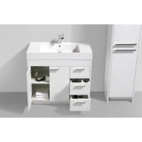 """Eviva Lugano 36"""" Single Modern Bathroom Vanity Set ..."""