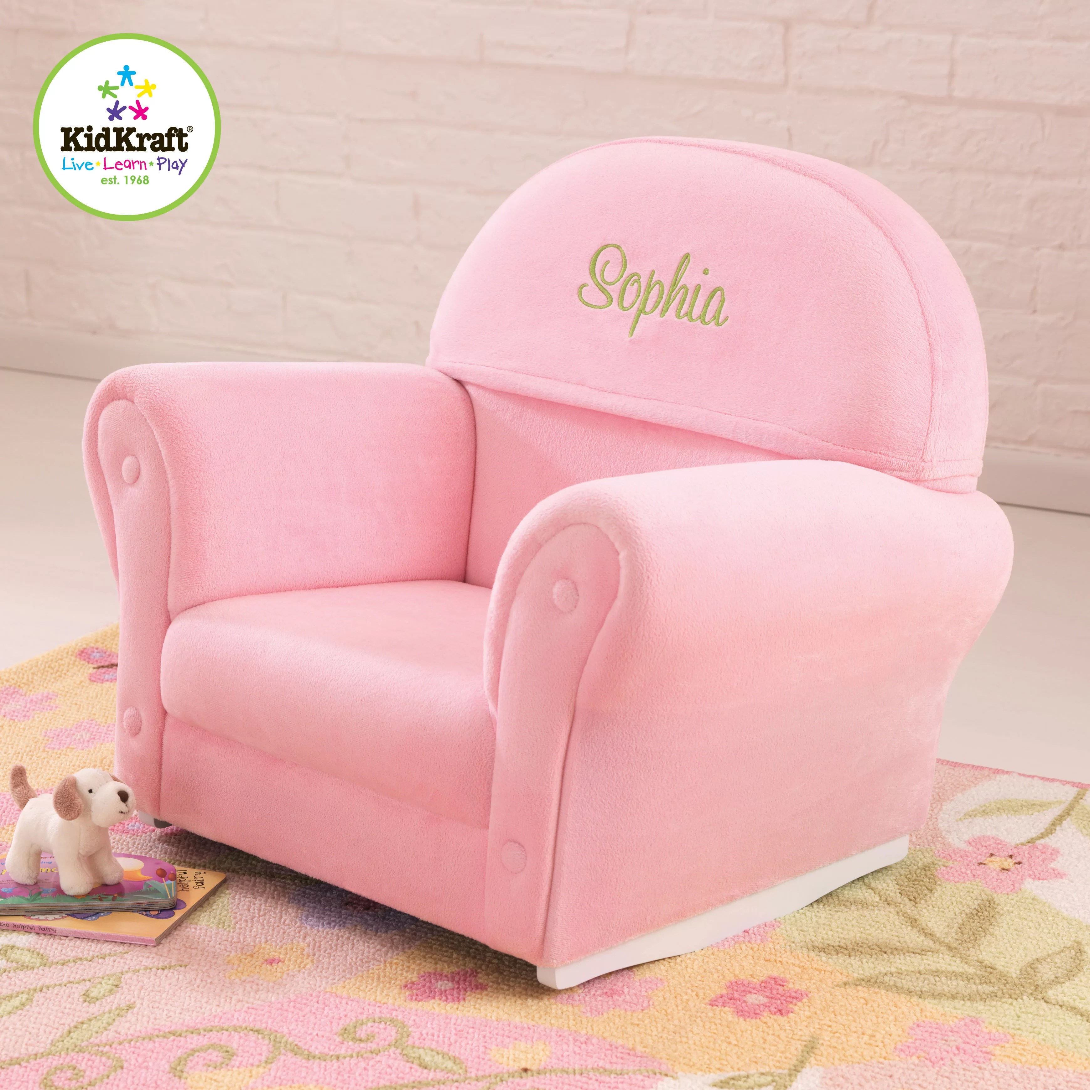 rocking chair christmas covers indoor chaise chairs velour personalized kids wayfair