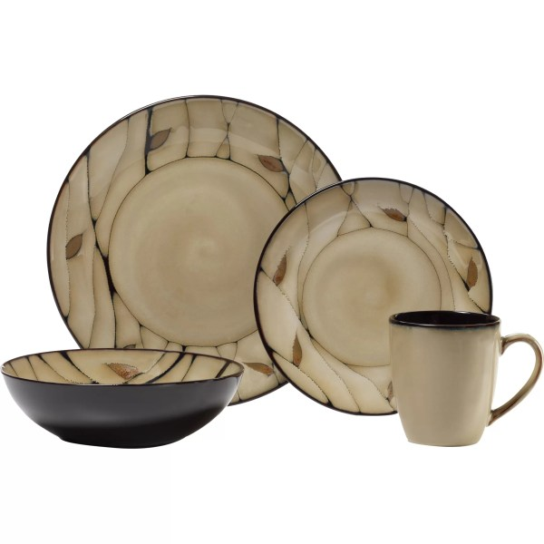 Pfaltzgraff Everyday Briar 16 Piece Dinnerware Set &