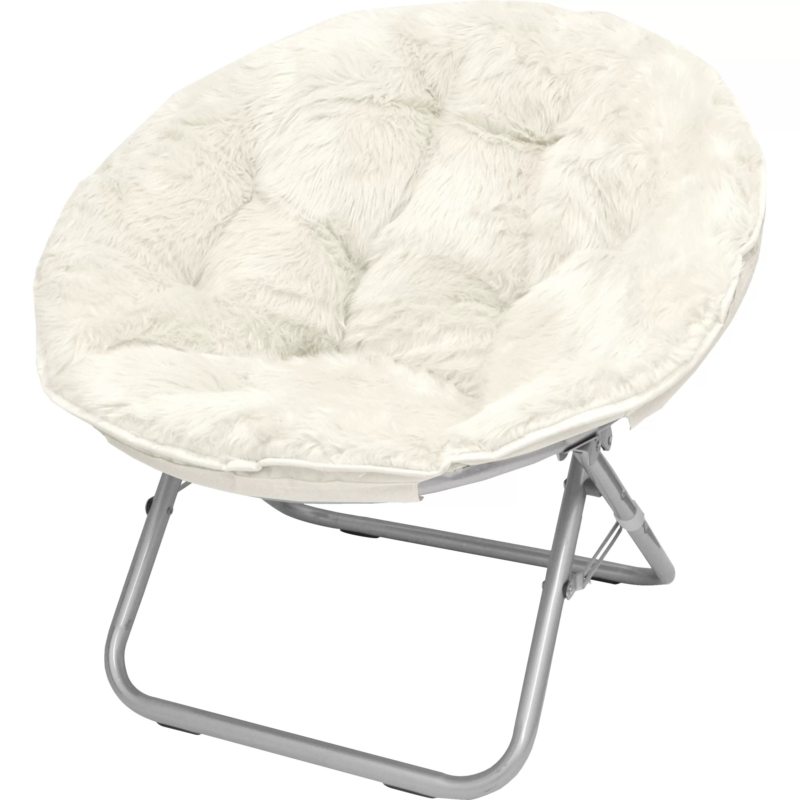 Furry Chairs Urban Shop Mongolian Fur Papasan Chair And Reviews Wayfair