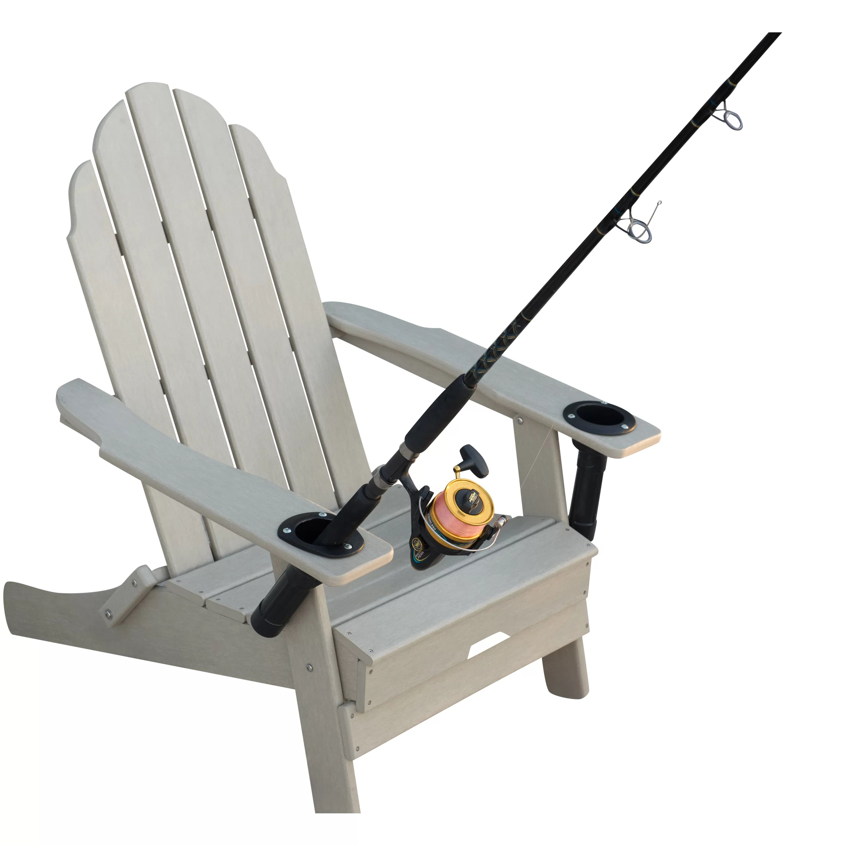 fishing chair add ons walking stick south africa folding anglers with cup and rod holders wayfair