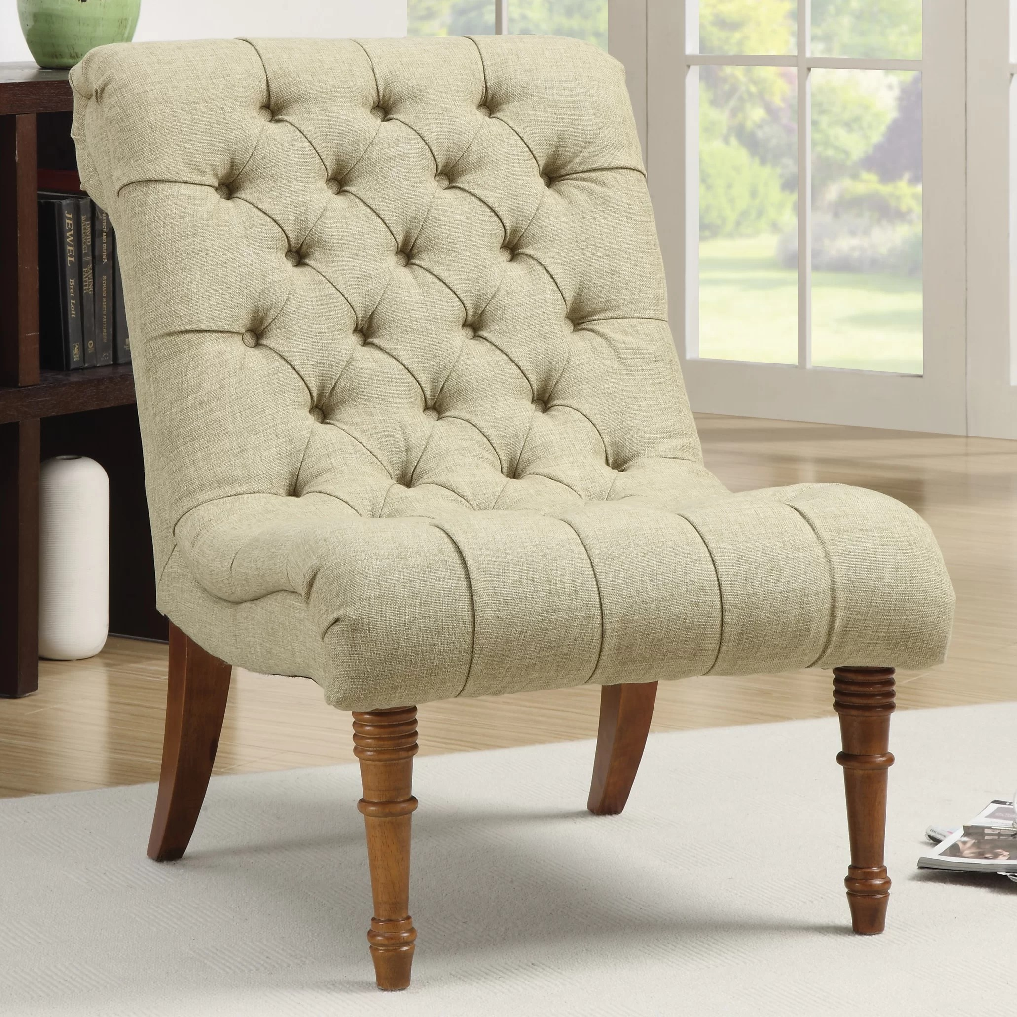 tufted side chair desk on wood floor rosalind wheeler bottrell and reviews