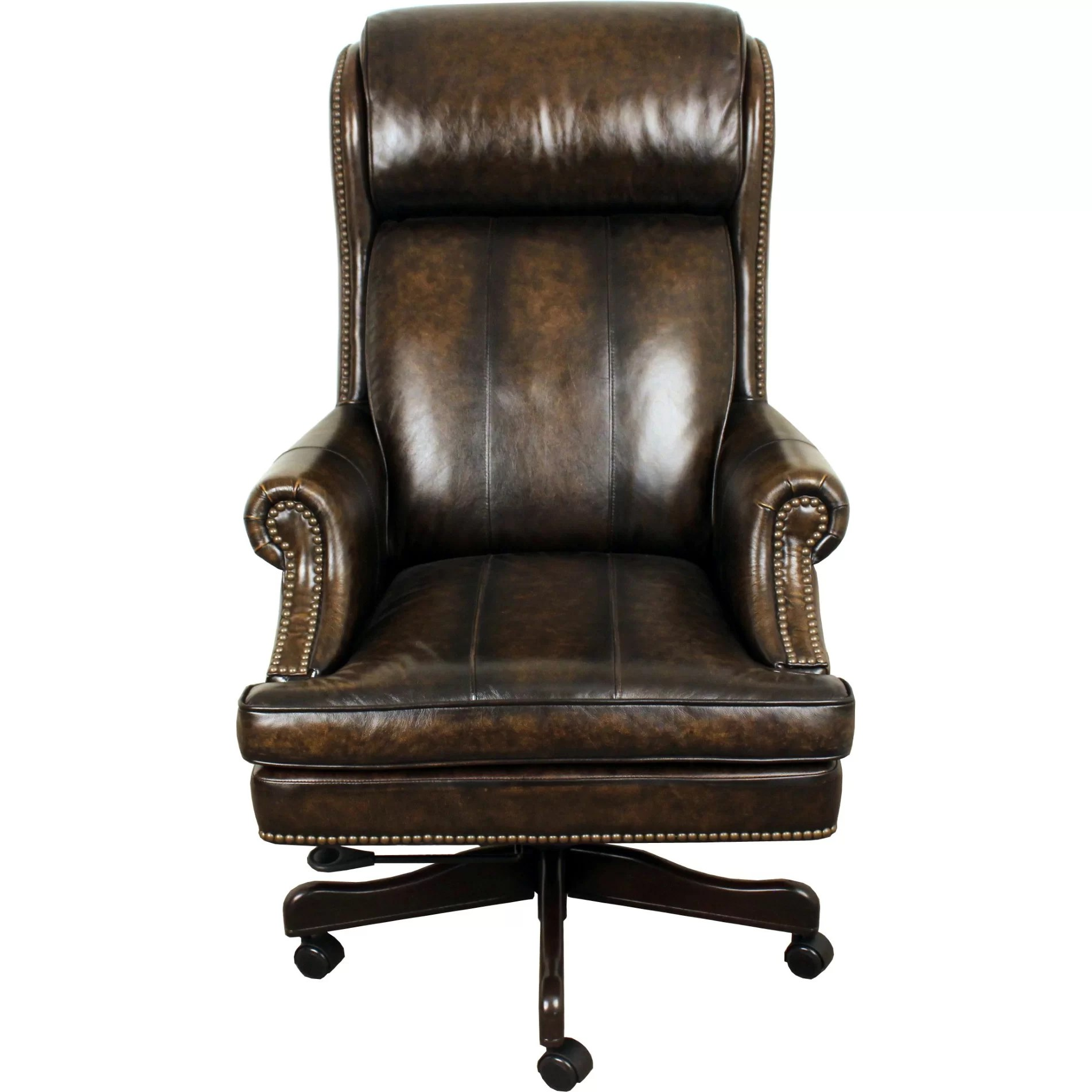 Lynton HighBack Leather Executive Office Chair  Wayfair