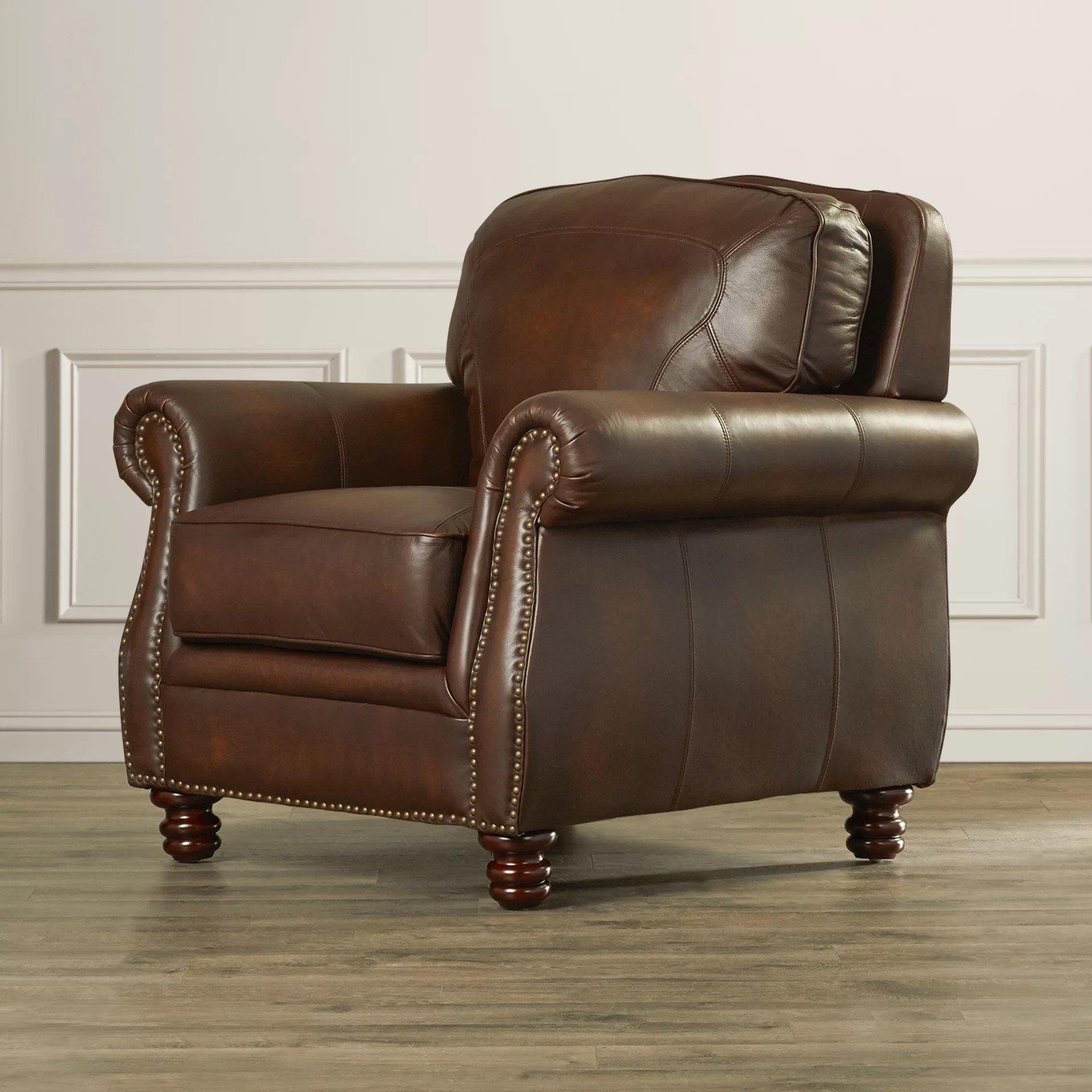 Club Chair Leather Mcdonnell Leather Club Chair Wayfair