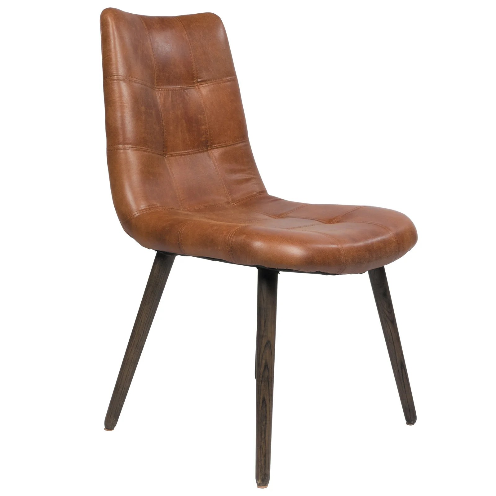 leather tufted dining chair cheap white desk alamo side wayfair