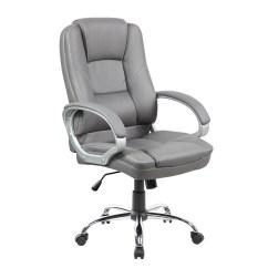 Grey Leather Desk Chair X Rocker Pedestal Gaming Instructions Pettis Office In Italian Shop