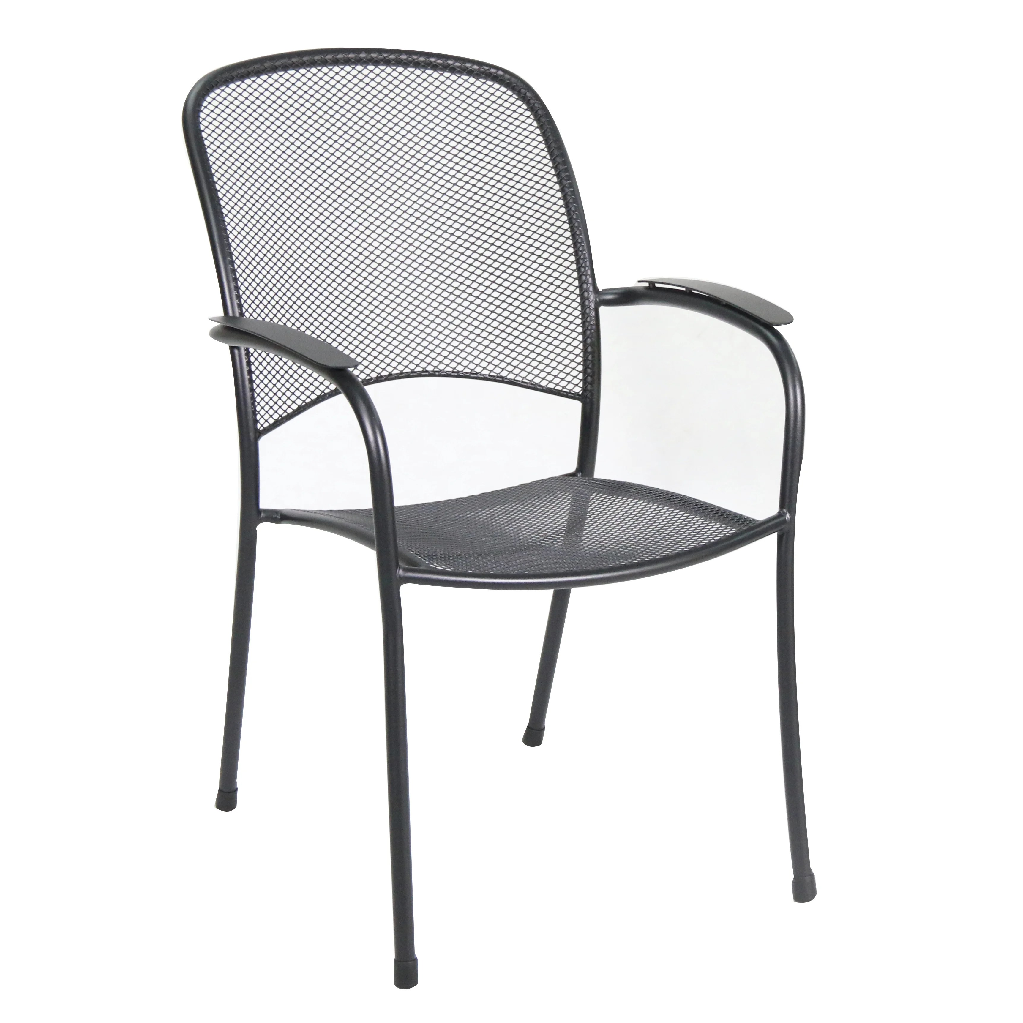 Stacking Dining Chairs Royal Garden Monaco Stacking Mesh Dining Arm Chair