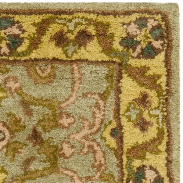 Heritage Green Gold Floral Area Rug
