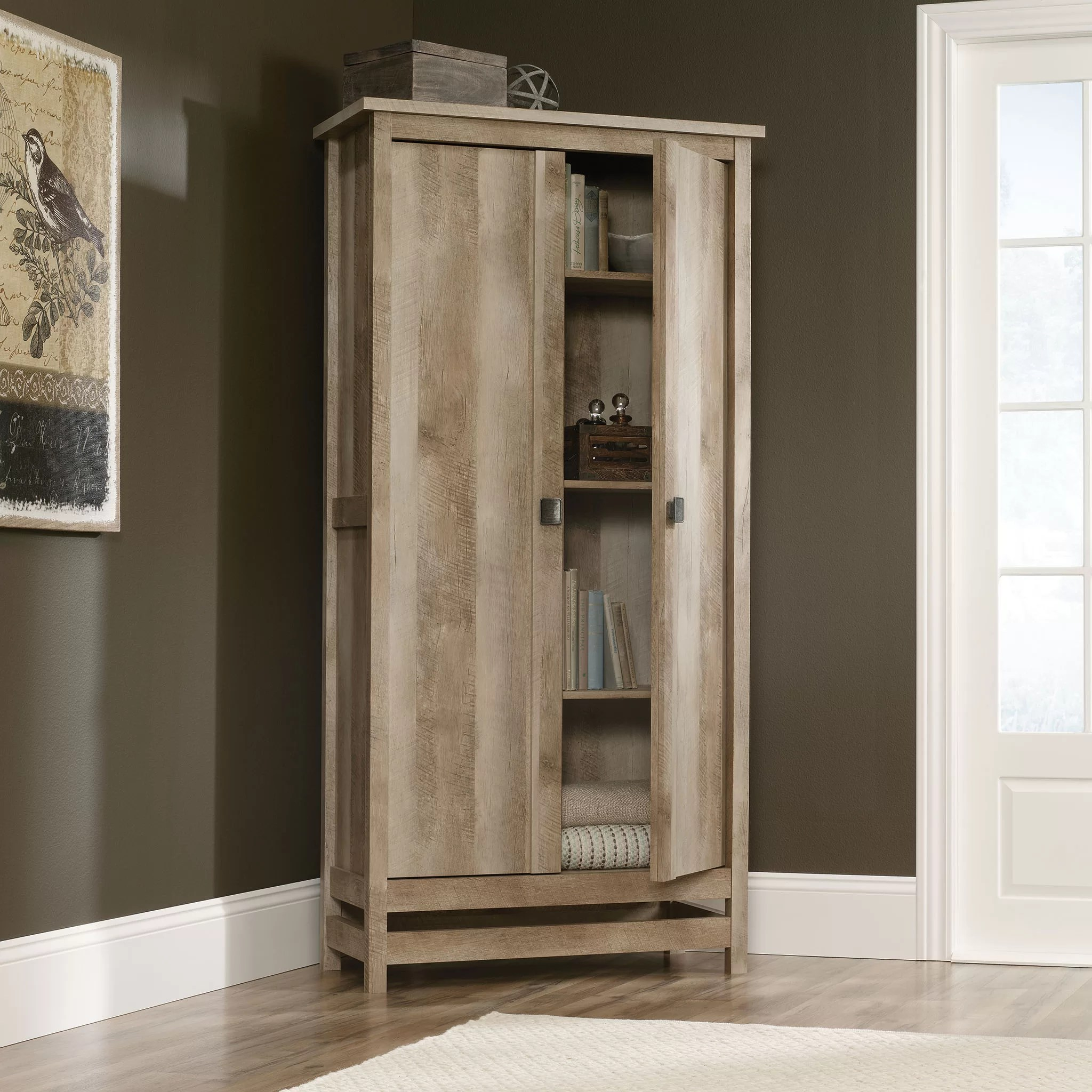 Sauder Cannery Bridge 2 Door Storage Cabinet  Reviews  Wayfair