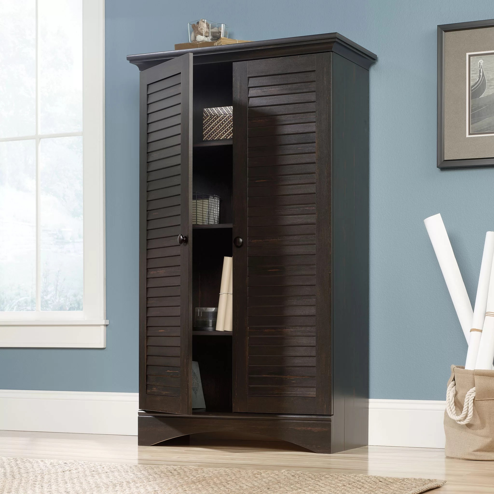 Sauder Harbor View 2 Door Storage Cabinet  Reviews  Wayfair