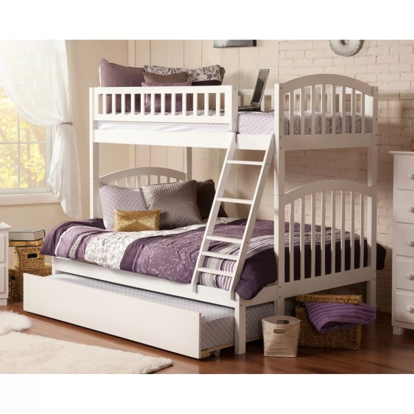 Atlantic Furniture Richland Twin Over Full Bunk Bed &