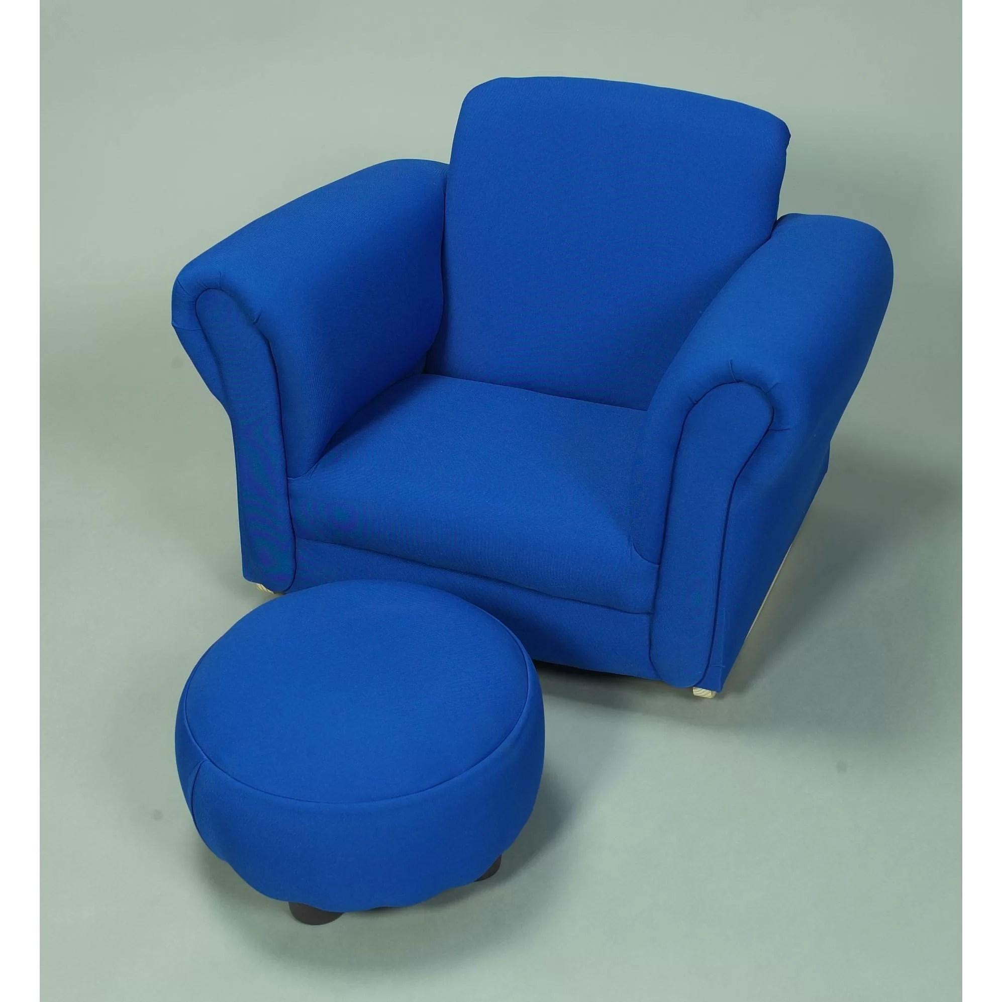 kids chair and ottoman kid upholstered club wayfair