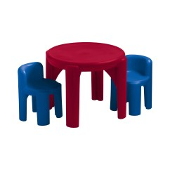 Little Kids Table And Chairs Stool Chair For Patient Tikes 39 3 Piece Set Reviews