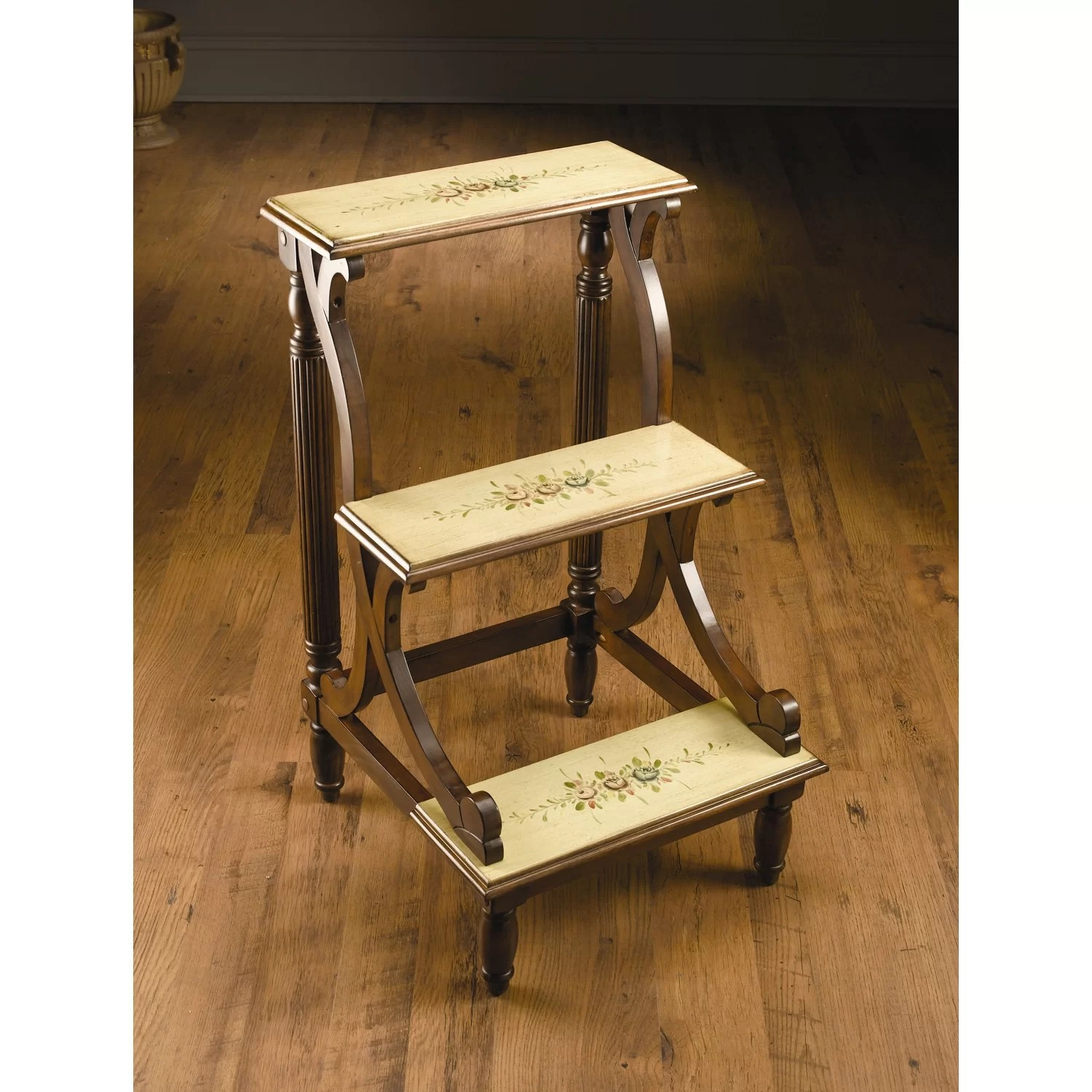 chair step stool ironing board designer covers to go instagram 3 wood library wayfair