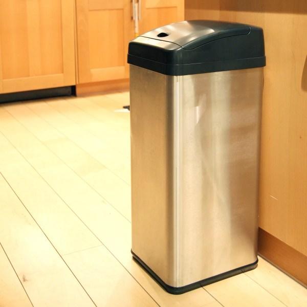 Motion Sensor Trash Can 13 Gallon Stainless Steel