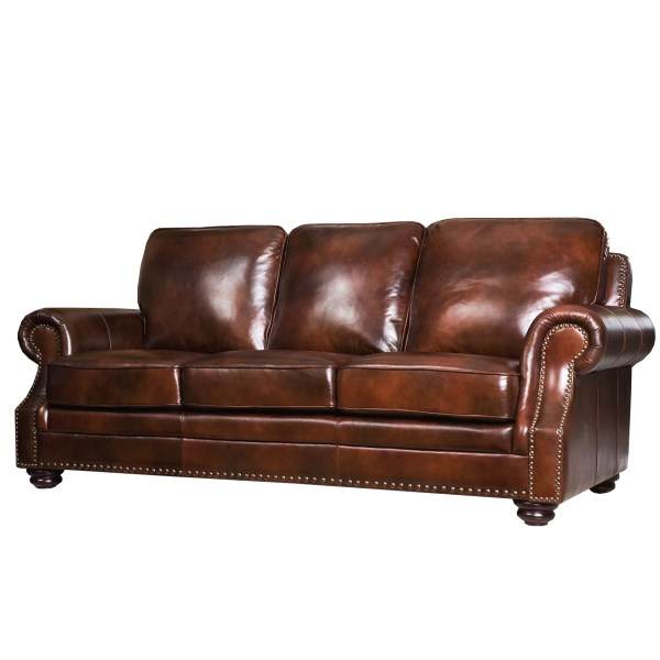 Abbyson Living Leather Sectional Sofa