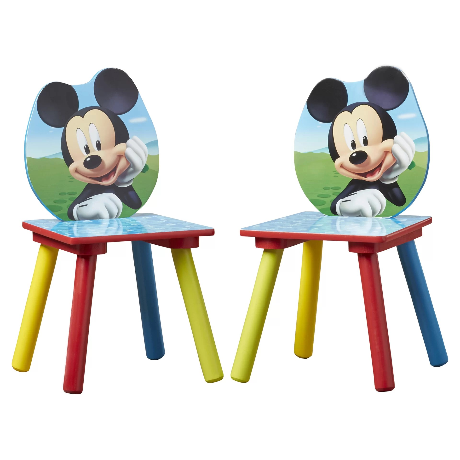 mickey mouse chairs and table world market dining delta children kids 3 piece chair