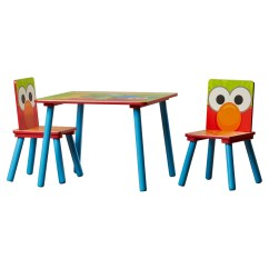 Sesame Street Table And Chairs Blossom High Chair Delta Children Kids 39 3 Piece