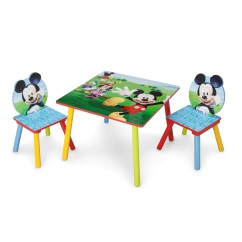 Mickey Mouse Clubhouse Table And Chair Set Vintage Metal Dining Chairs Kids 3 Piece Wayfair