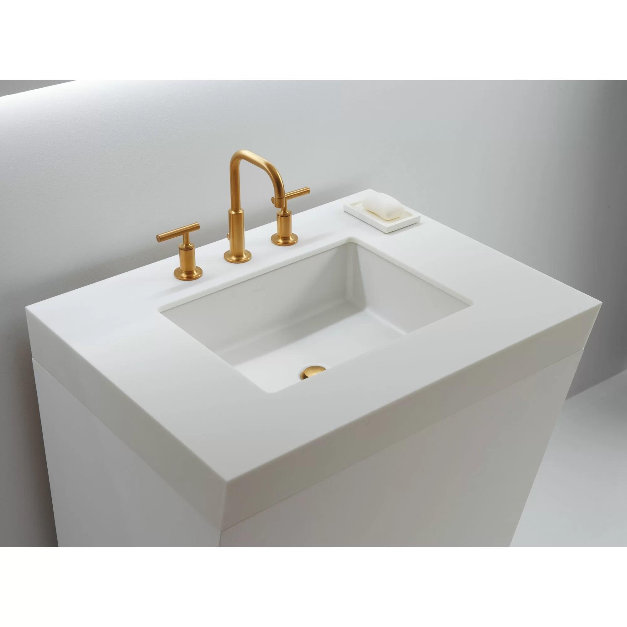 Verticyl Rectangular Undermount Bathroom Sink with