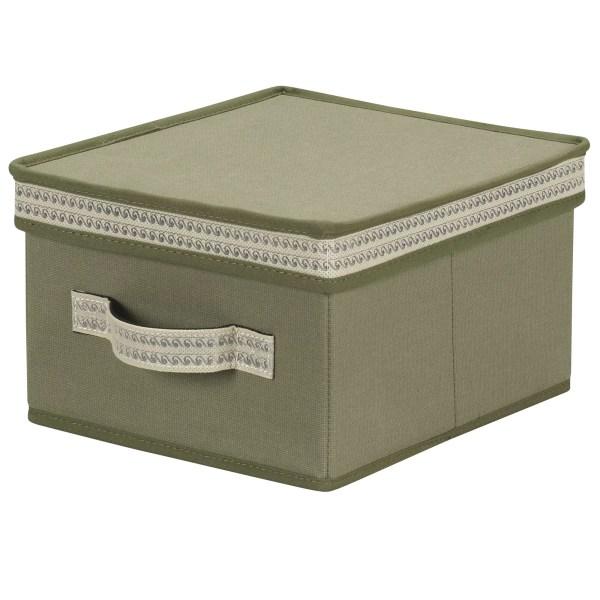 Household Essentials Storage Box With Decorative Trim &