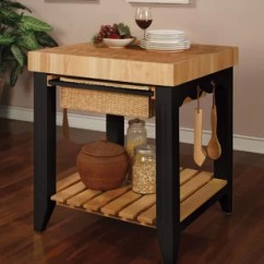 Kitchen Prep Cart Myrtle Beach Hotels With Tall Wayfair Behling Table Butcher Block Top