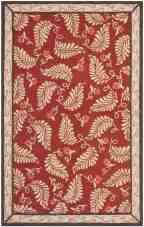 Martha Stewart Hand Tufted Wool Saffron Red Area Rug