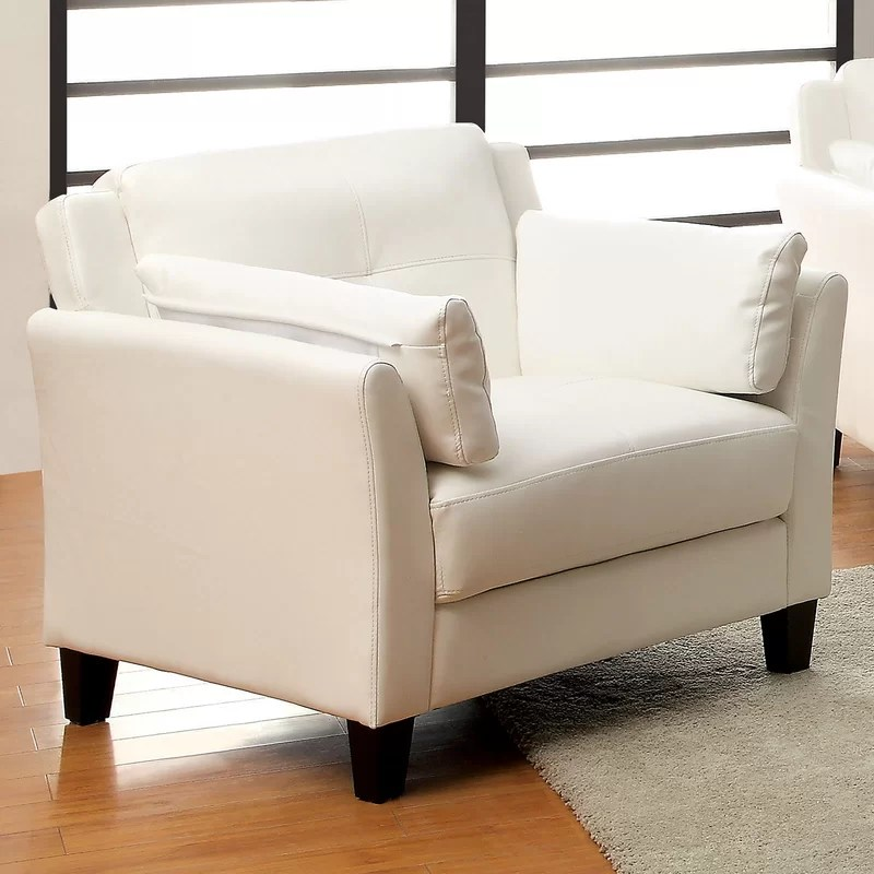 Double Armchair Upholstery: White