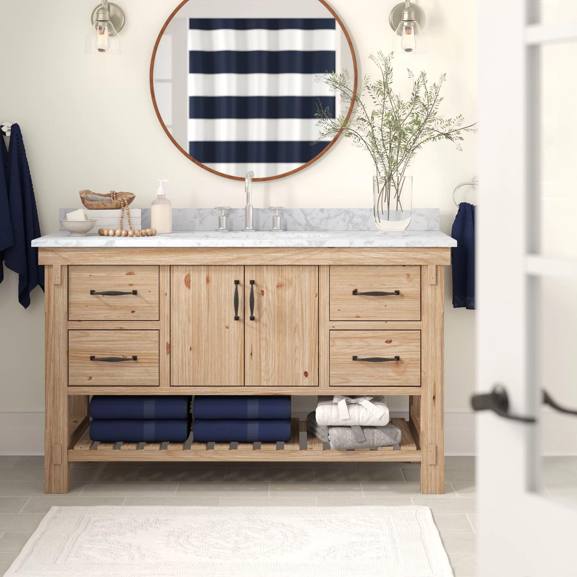 Three Posts Kordell 55 Single Bathroom Vanity Set Reviews Wayfair