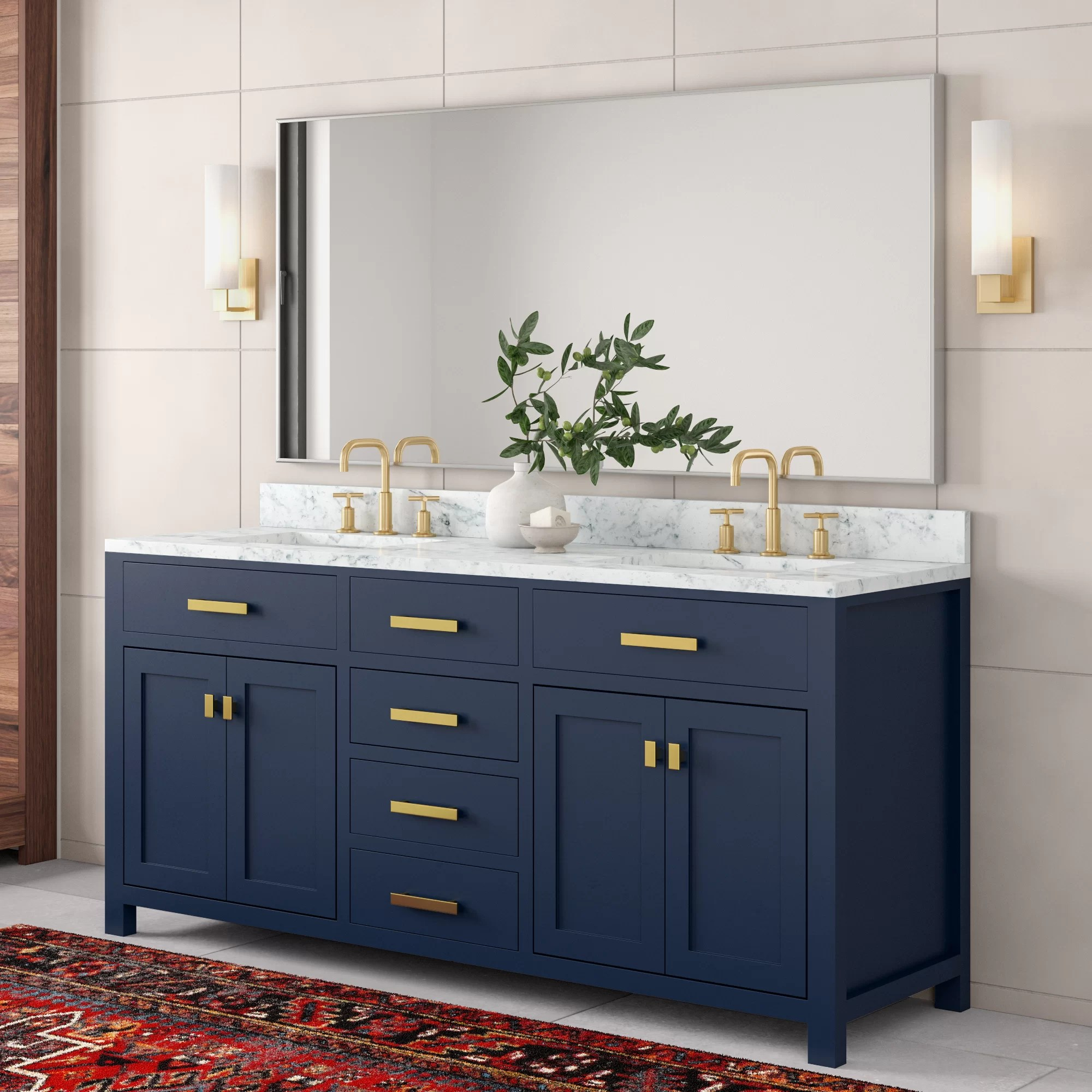 Rachelle 72 Double Bathroom Vanity Set Reviews Allmodern