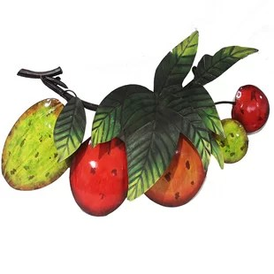 fruit decor for kitchen delta faucets ceramic wayfair fruits wall