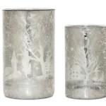 Home Furniture Diy Christmas Glass Votive Candle Holders Tealight Vases Decoration Santa Tree Candle Tea Light Holders Mantys Com Br