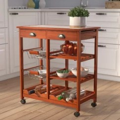 Folding Kitchen Cart Clever Small Design Carts Wayfair Serita