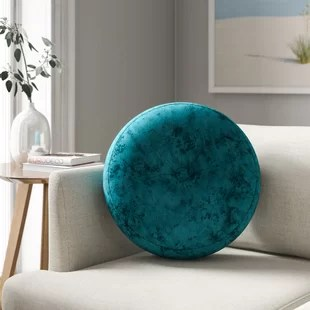 tuten crushed velvet round throw pillow