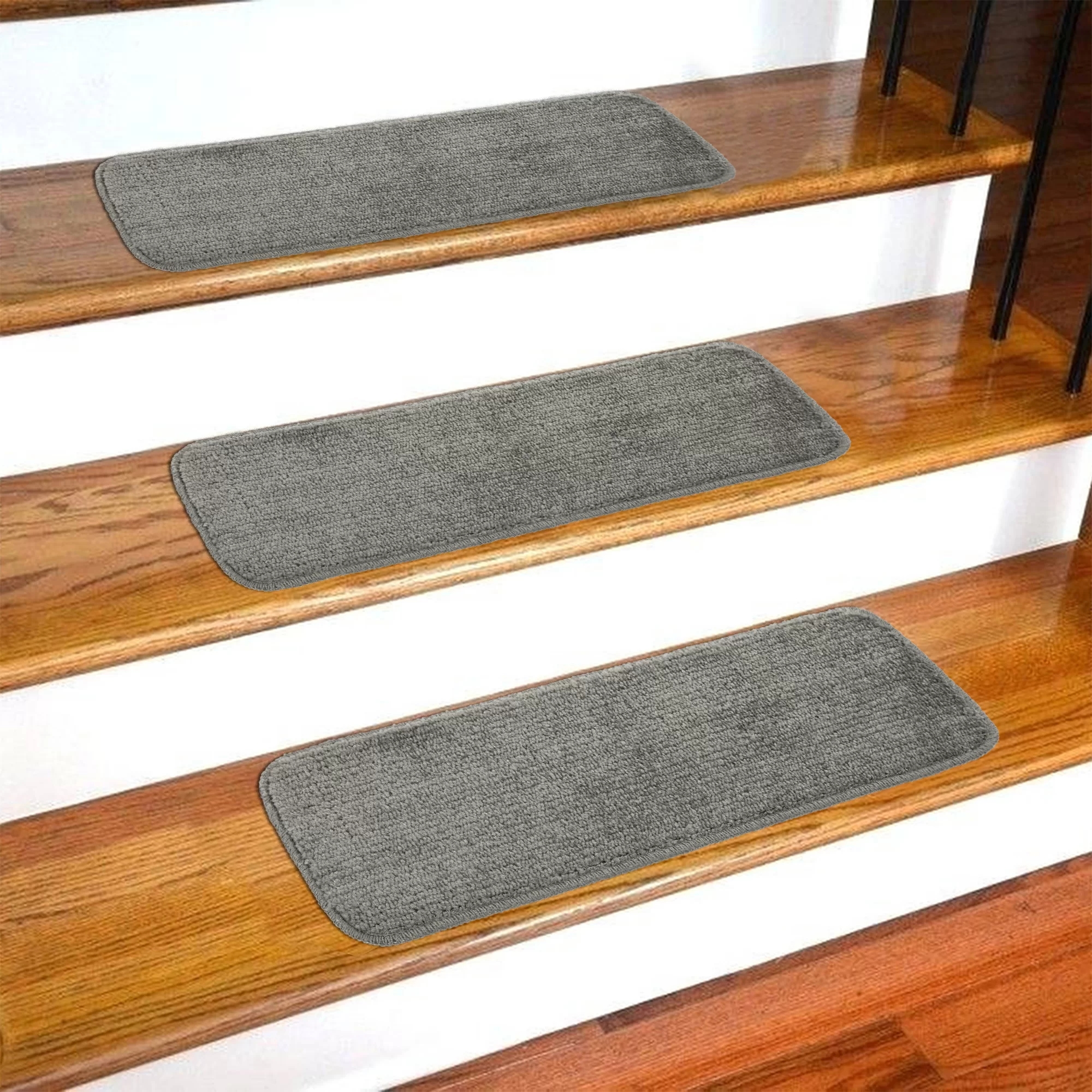 Stair Tread Rugs You Ll Love In 2020 Wayfair   Blue Carpet On Stairs   Wooden   Grey Stair White Wall   Antelope   Geometric   Gray